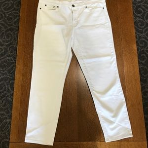 White J Crew Stretch Straight Leg Jeans